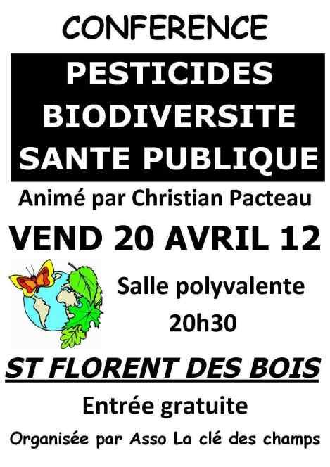affiche pestcides, biodiversité et santé publique