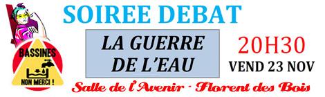23 nov 2018 SOIR2E DÉBAT LA GUERRE DE L'EAU