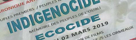 conférence génocide écocide Chaillé les Ormeaux
