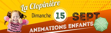 Animations enfants la Clopinière 2019